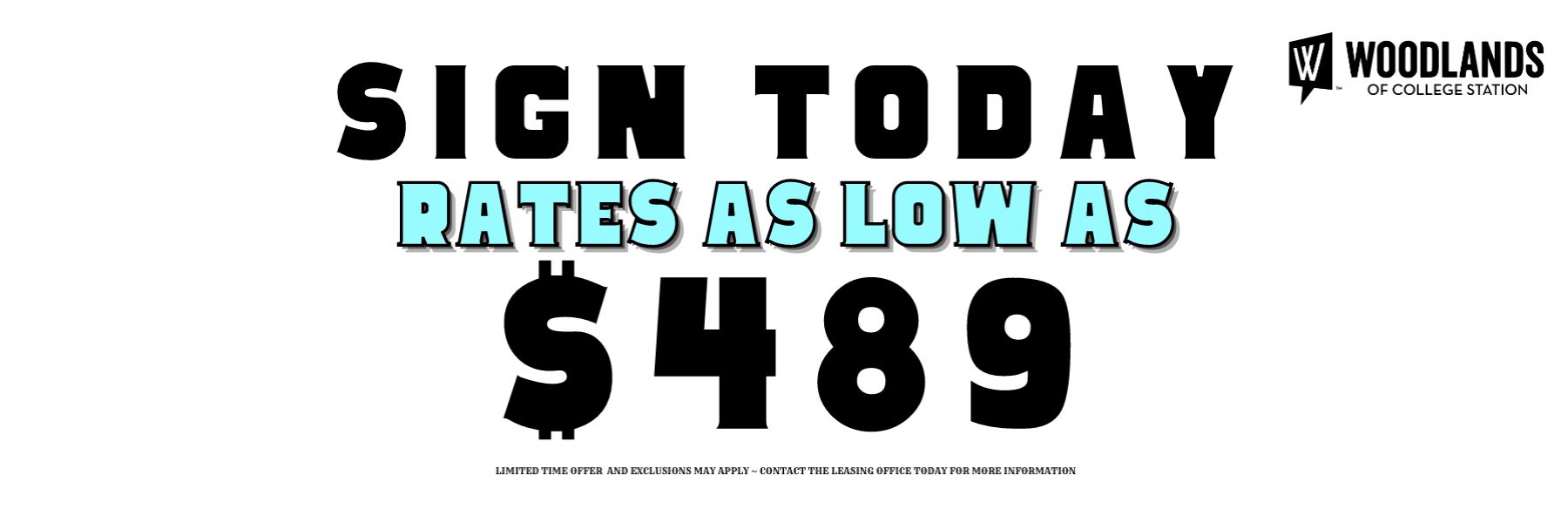 Rates As Low As